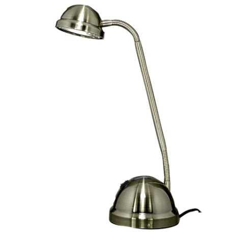 Halogénová stolová lampa VEGA 1xGY6, 35/35 - 50W patina