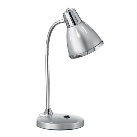 Ideal Lux 034416 - Stolná lampa ELVIS 1xE27/60W/230V strieborná