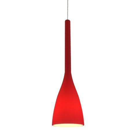 Ideal Lux 035673 - Luster FLUTE 1xE27/60W/230V červená