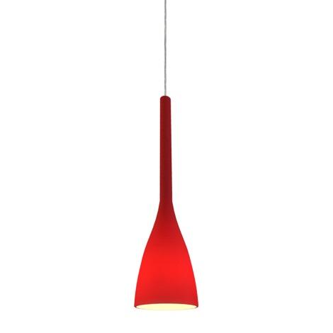 Ideal Lux 035703 - Luster FLUTE 1xE14/40W/230V červená