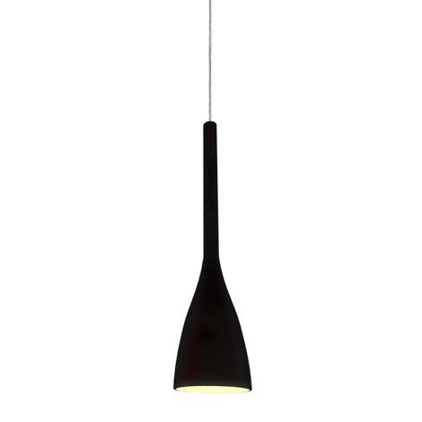 Ideal Lux 035710 - Luster FLUTE 1xE14/40W/230V čierna