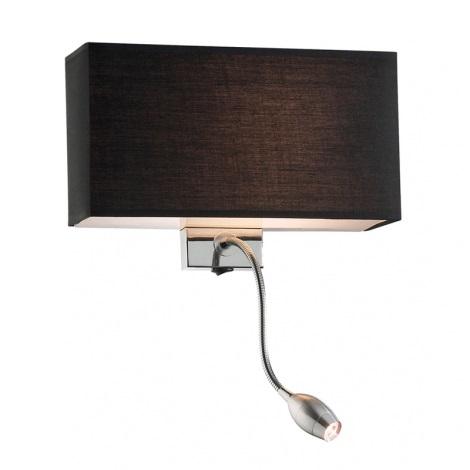 Ideal Lux 035956 - LED nástenné svietidlo HOTEL 1xE27/60W + 1xLED/1W