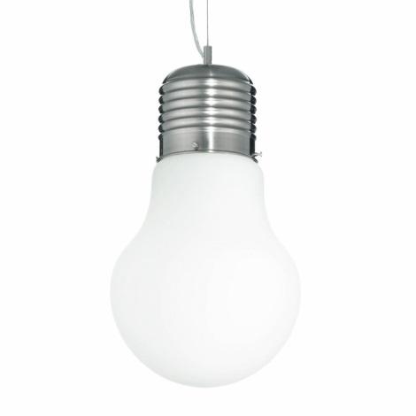 Ideal Lux 06840 - Závesné svietidlo LUCE SP1 BIG BIANCO 1xE27/60W/230V