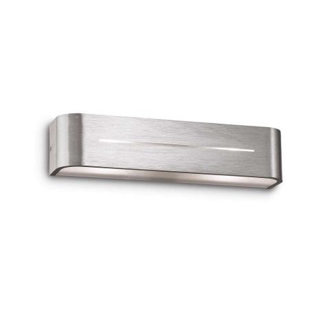Ideal Lux 09940 - Nástenné svietidlo POSTA AP2 ALLUMINIO 2xE14/40W/230V