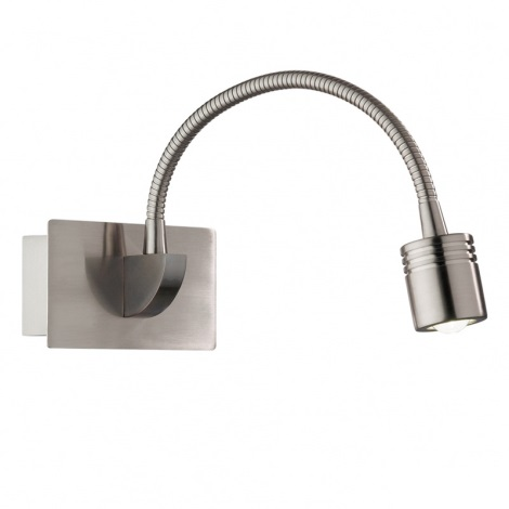 Ideal Lux 31477 - LED nástenné svietidlo DYNAMO AP1 NICKEL 1xLED/3W/230V