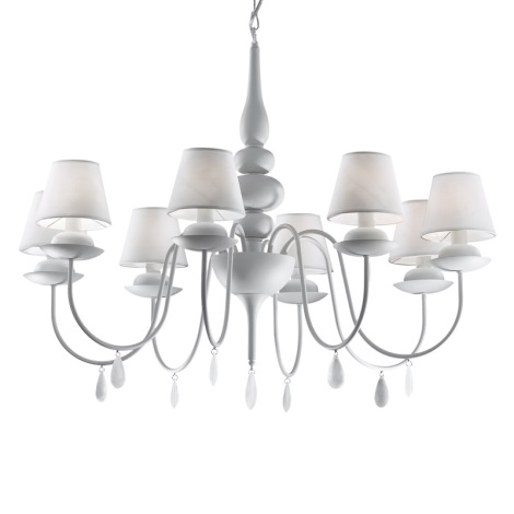Ideal Lux 35574 - Luster na reťazi BLANCHE SP8 8xE14/40W/230V