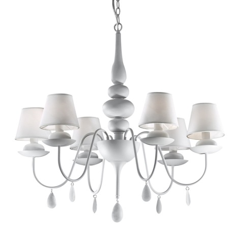 Ideal Lux 35581 - Luster na reťazi BLANCHE SP6 6xE14/40W/230V