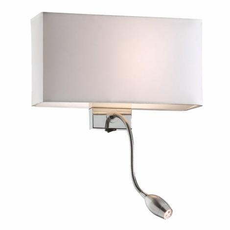 Ideal Lux 35949 - Nástenné svietidlo HOTEL AP2 BIANCO 1xE27/60W/230V + 1x1W/LED/230V