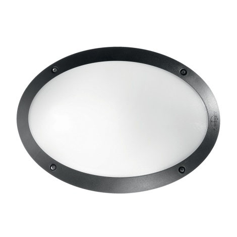 Ideal Lux - Technické svietidlo 1xE27/23W/230V IP66 čierna