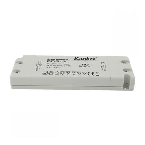 Kanlux 8550 - Elektrický transformátor DRIFT 3-18W/12V