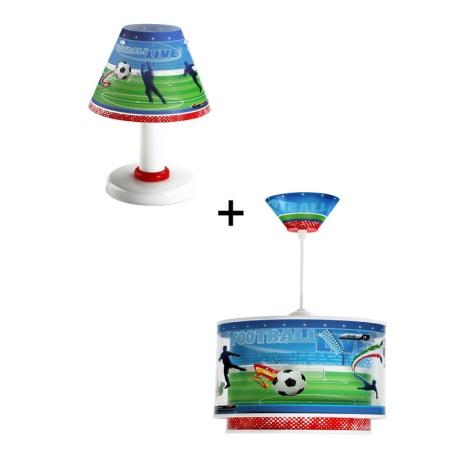 Klik 6046 - Stolná lampa + Luster FOOTBALL E27, E14/60,40W/230V