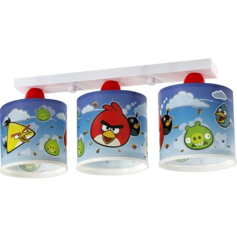 Klik 60883 - Detské stropné svietidlo ANGRY BIRDS 3xE27/60W