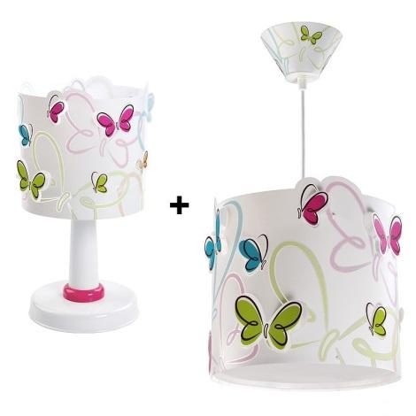 Klik 6214 - Sada stolná lampa + luster BUTTERFLY