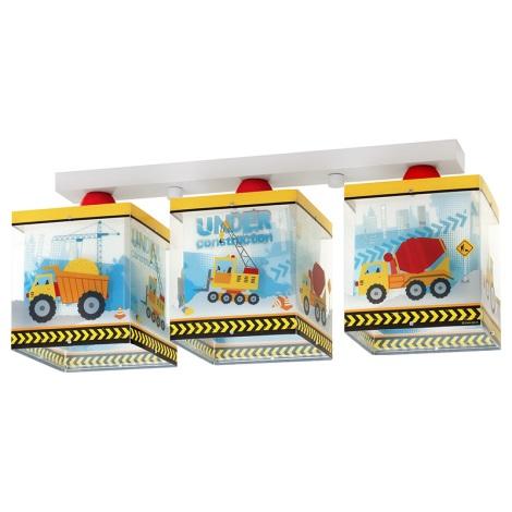 Klik 63613 - Detské stropné svietidlo CONSTRUCTOR 3xE27/60W/230V