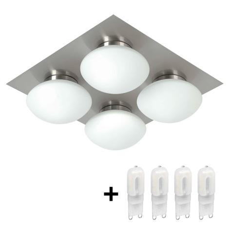 Kúpeľňové stropné svietidlo DUNAJ 4 4xG9/40W/230V