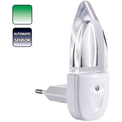 Lampička do zásuvky MINI-LIGHT (zelené svetlo)