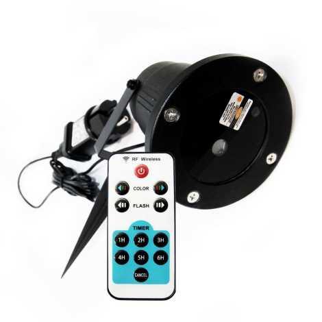 Laserový projektor s diaľkovým ovládačom 230V IP65