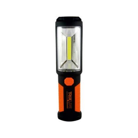LED Baterka LED+COB/3W/3xAA oranžová