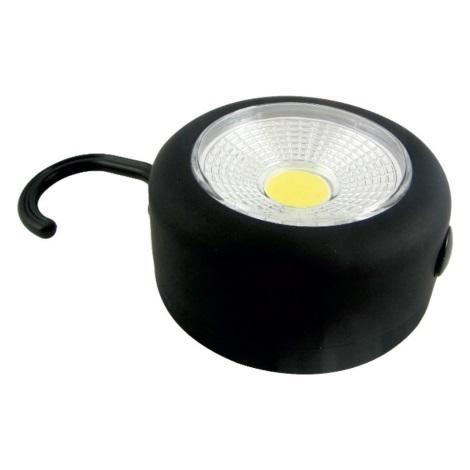 LED Baterka s háčikom a magnetom LED/3W/3xAAA