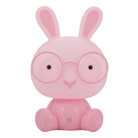 LED Detská nočná lampička LED/2,5W zajačik ružová