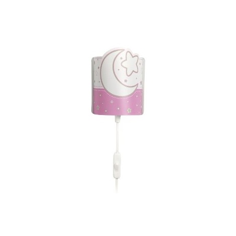 LED Detské nástenné svietidlo PINK MOON 1xE14/0,5W LED