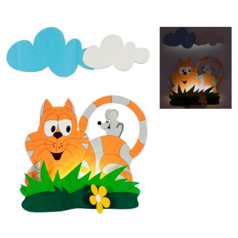 LED detské svietidlo 1xLED/1W - Mačka