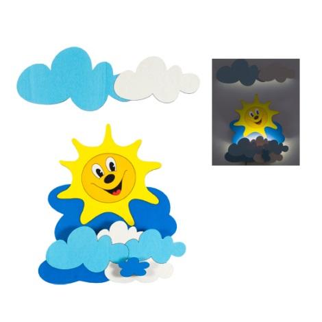 LED detské svietidlo 1xLED/1W - Slniečko