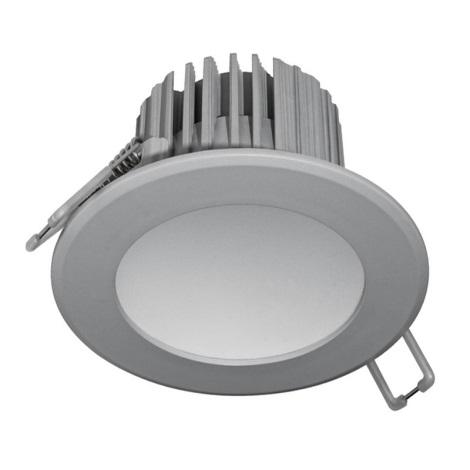 LED Kúpeľňové podhľadové svietidlo LED/7W/230V 2800K šedá IP44