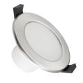 LED Kúpeľňové podhľadové svietidlo LED/7W/230V 3000K strieborná IP44