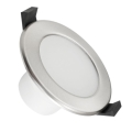 LED Kúpeľňové podhľadové svietidlo LED/7W/230V 4000K strieborná IP44