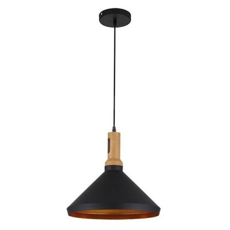 LED Luster 1xE27/10W/230V čierna 35cm