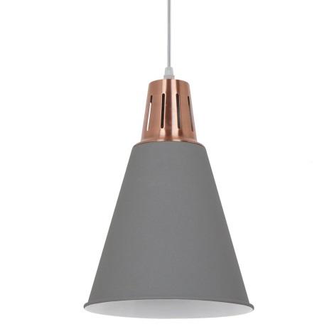 LED Luster 1xE27/10W/230V šedá 22cm