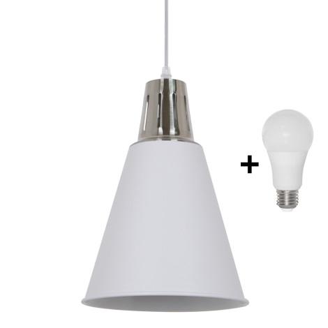LED Luster 1xE27/8W/230V biela 22cm