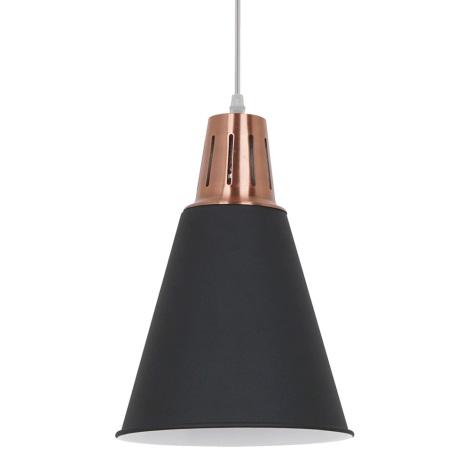 LED Luster 1xE27/8W/230V čierna 22cm