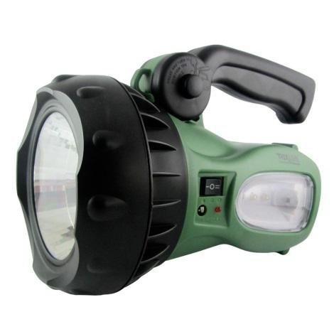 LED Nabíjacia baterka LED/1W zelená