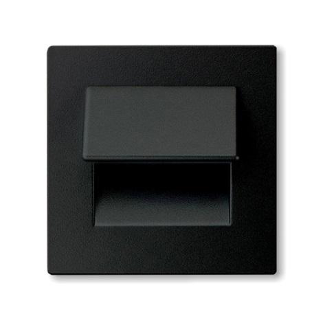 LED nástenné schodiskové svietidlo LIVE 3xLED/0,24W/12V čierna 4000K