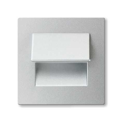 LED nástenné schodiskové svietidlo LIVE 3xLED/0,24W/12V hliník 6000K