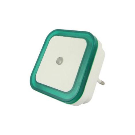 LED Nočné svetlo so senzorom LED/0,5W/230V zelená