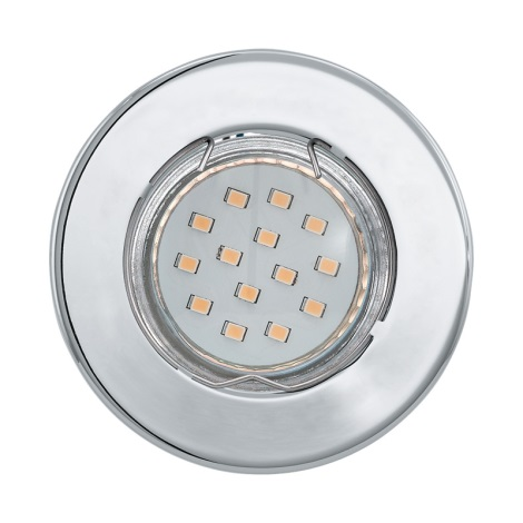 LED podhľadové svietidlo IGOA 1xGU10/3W/230V chróm lesk