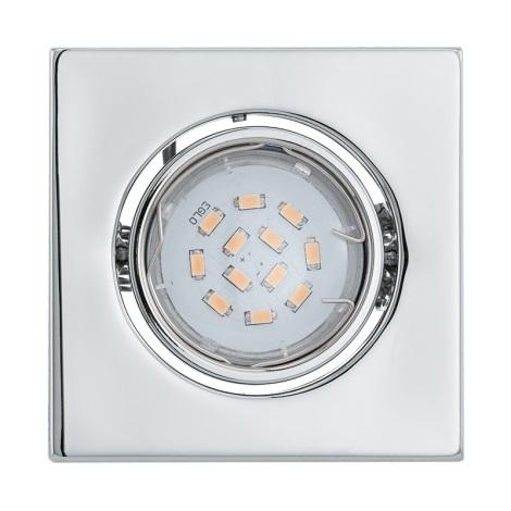 LED podhľadové svietidlo IGOA 1xGU10/5W/230V chróm lesk
