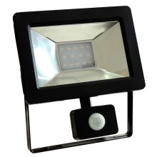 LED Reflektor so senzorom NOCTIS 2 SMD LED/10W/230V IP44 650lm čierna
