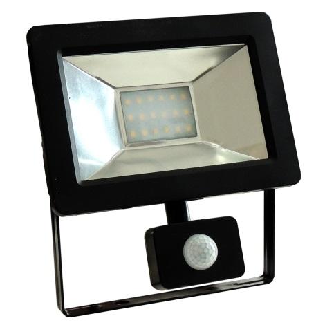LED Reflektor so senzorom NOCTIS 2 SMD LED/20W/230V IP44 1350lm čierna