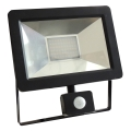 LED Reflektor so senzorom NOCTIS 2 SMD LED/30W/230V IP44 1950lm čierna