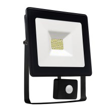 LED Reflektor so senzorom NOCTIS LUX SMD LED/10W/230V 900lm čierna IP44