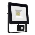 LED Reflektor so senzorom NOCTIS LUX SMD LED/10W/230V IP44 900lm čierna