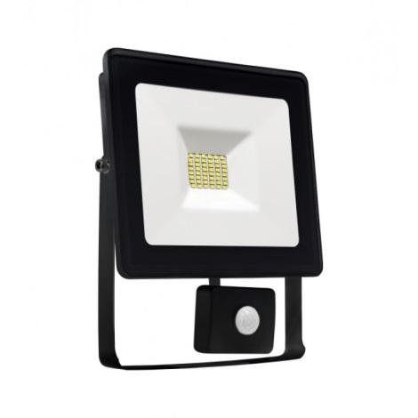 LED Reflektor so senzorom NOCTIS LUX SMD LED/20W/230V IP44 1700lm čierna