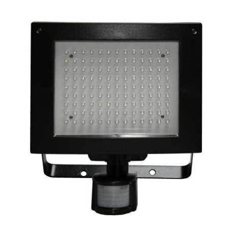LED Reflektor T274 117xLED/9W 230V čierny, s PIR čidlom