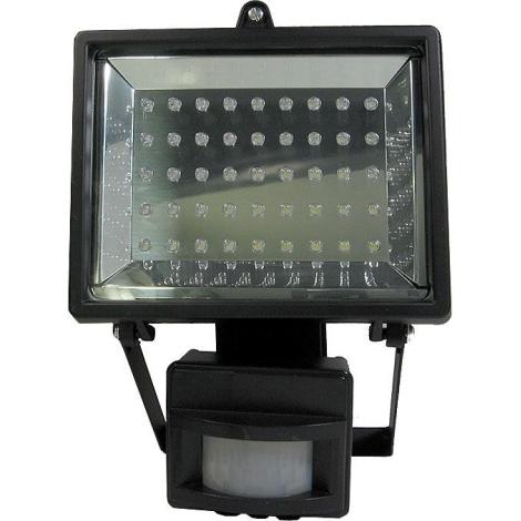 LED Reflektor T303 45xLED/3,5W/230V čierny, s PIR čidlom