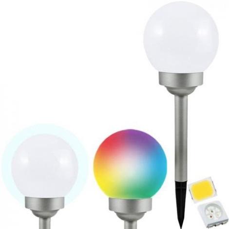 LED RGB Solárna lampa BALL LED/0,2W/AA 1,2V/600mAh IP44