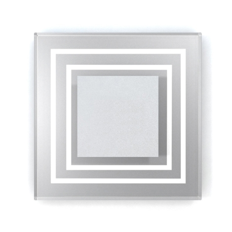 LED schodiskové svietidlo CRISTAL 01 6xLED/0,48W/12V nerez 6000K